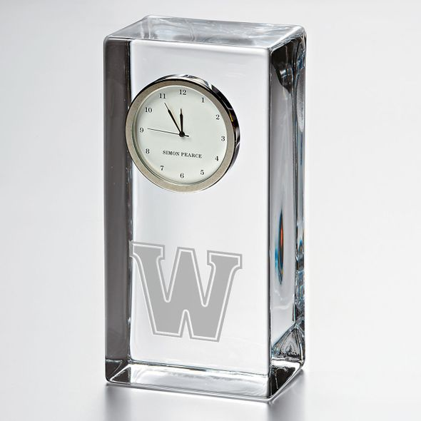Williams Tall Class Desk Clock by Simon Pearce