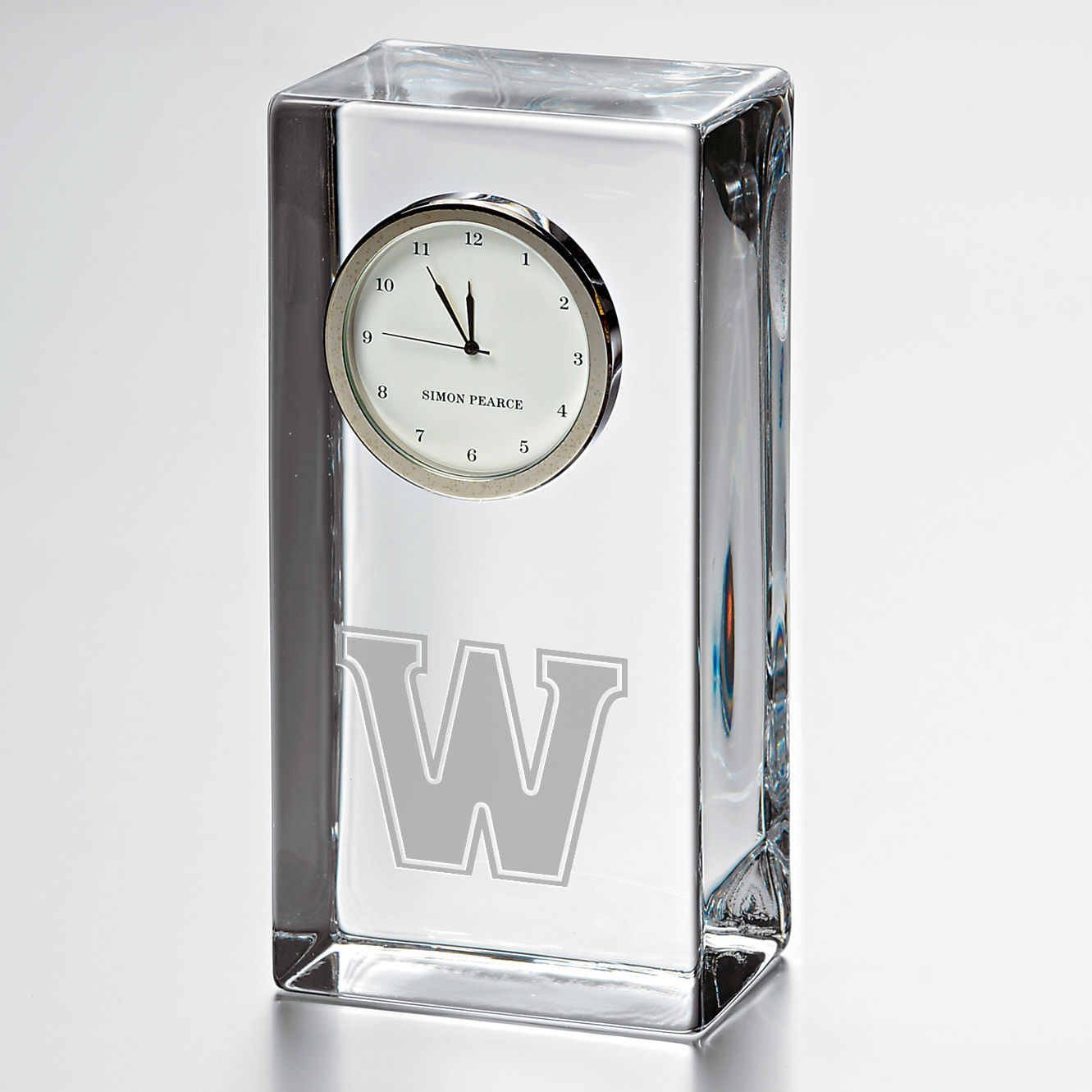 Williams Tall Class Desk Clock by Simon Pearce - Image 1