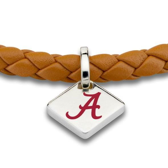 Alabama Leather Bracelet with Sterling Silver Tag - Saddle - Image 2