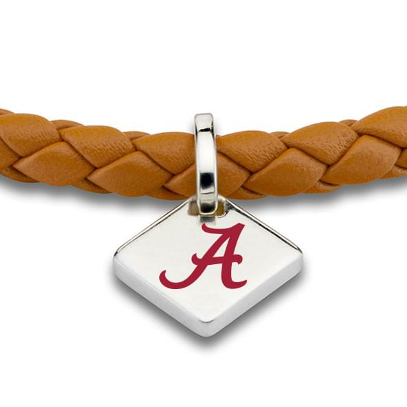 Alabama Leather Bracelet with Sterling Silver Tag - Saddle - Image 2