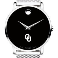 University of Oklahoma Men's Movado Museum with Mesh Bracelet