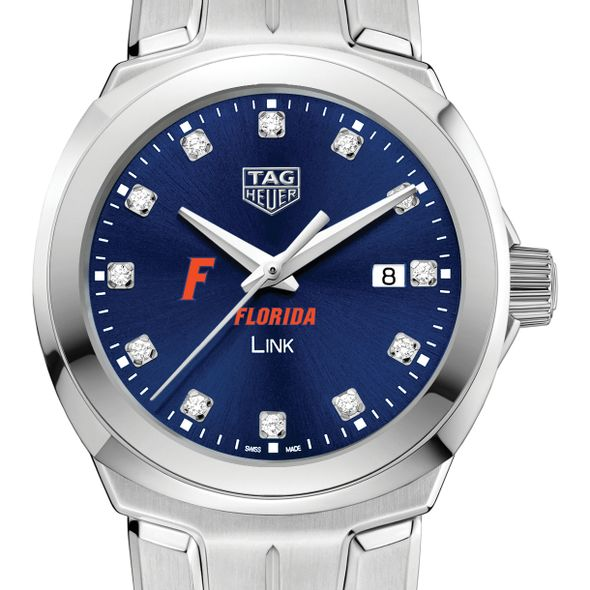 University of Florida Women's TAG Heuer Link with Blue Diamond Dial