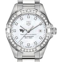 Wake Forest University W's TAG Heuer Steel Aquaracer with MOP Dia Dial & Bezel