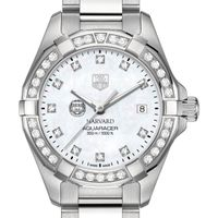Harvard University W's TAG Heuer Steel Aquaracer with MOP Dia Dial & Bezel