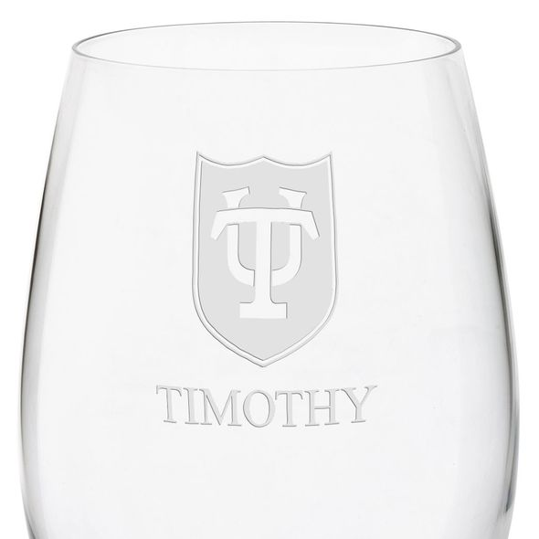 Tulane University Red Wine Glasses - Set of 4 - Image 3