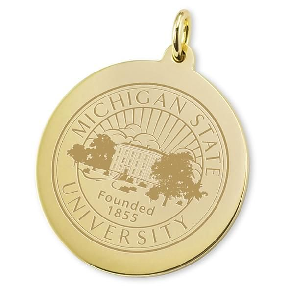 Michigan State 14K Gold Charm - Image 2