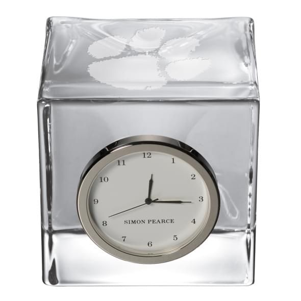 Clemson Glass Desk Clock by Simon Pearce - Image 2