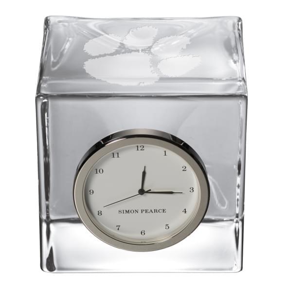 Clemson Glass Desk Clock by Simon Pearce - Image 2