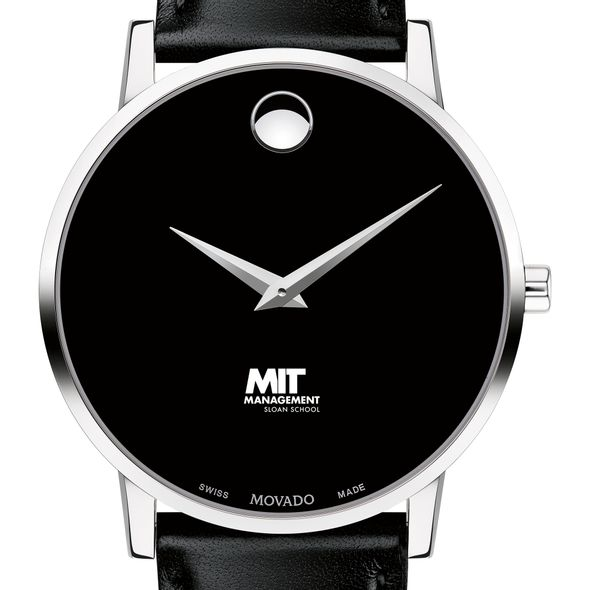 MIT Sloan Men's Movado Museum with Leather Strap - Image 1