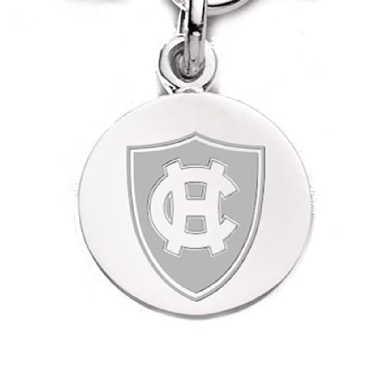 8 Horseshoe pendants  antique silver tone A551