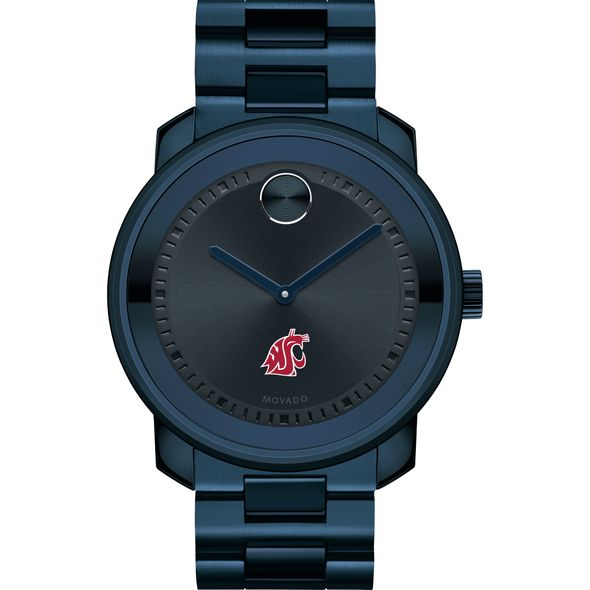 Washington State University Men's Movado BOLD Blue Ion with Bracelet - Image 2