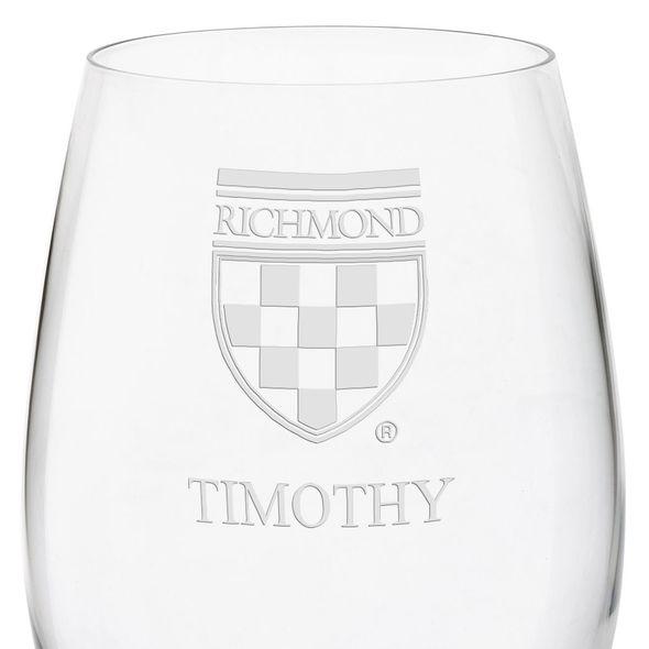 University of Richmond Red Wine Glasses - Set of 4 - Image 3