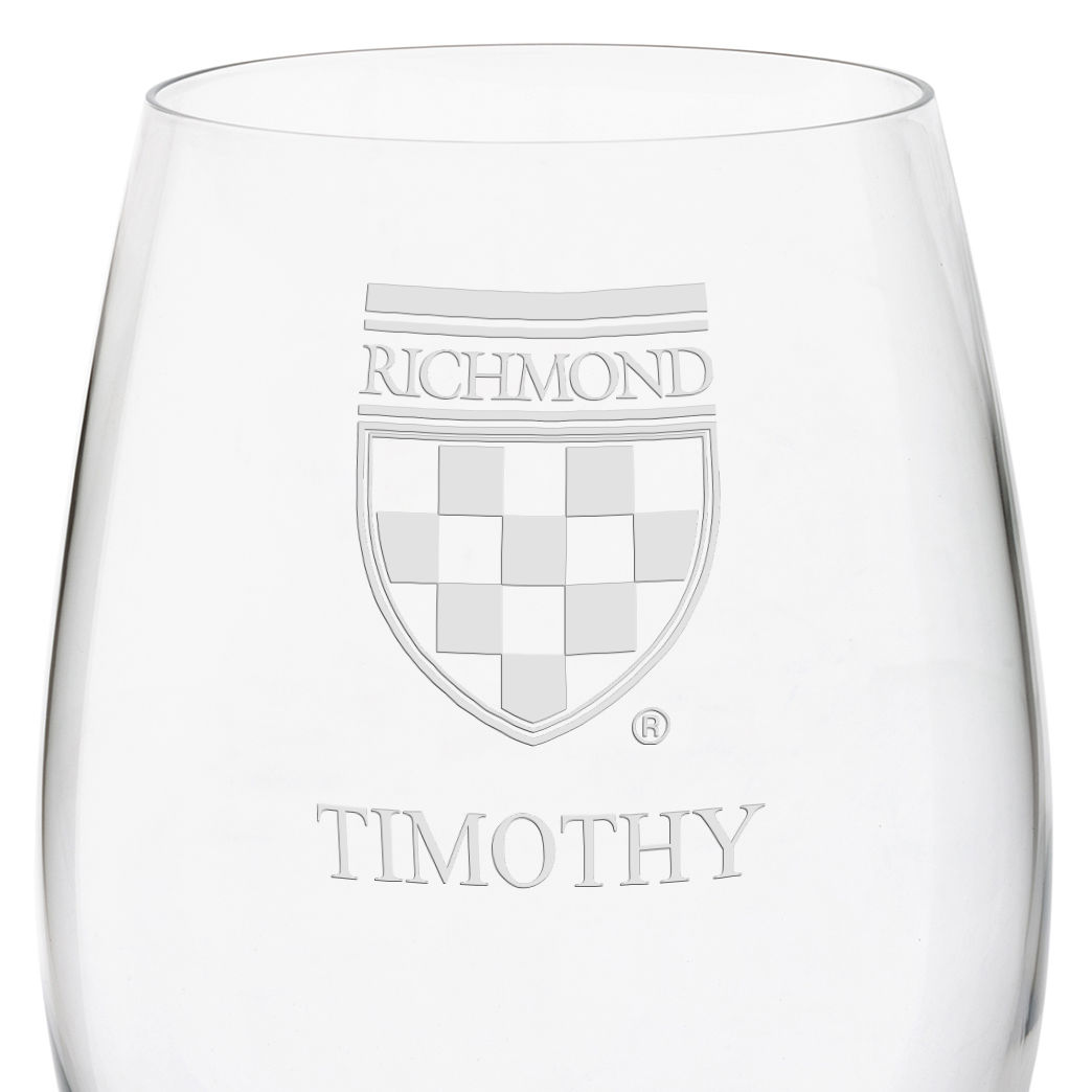 University of Richmond Red Wine Glasses - Set of 4 - Image 3