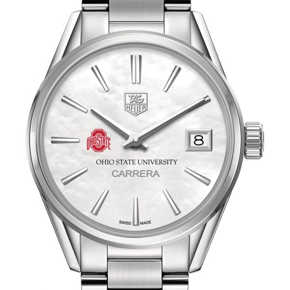 Ohio State Women's TAG Heuer Steel Carrera with MOP Dial - Image 1