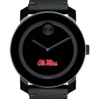University of Mississippi Men's Movado BOLD with Leather Strap