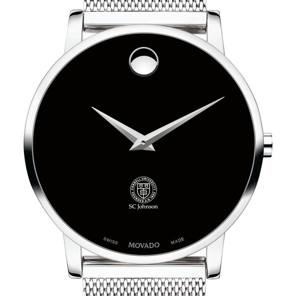 Cornell SC Johnson College of Business Men's Movado Museum with Mesh Bracelet