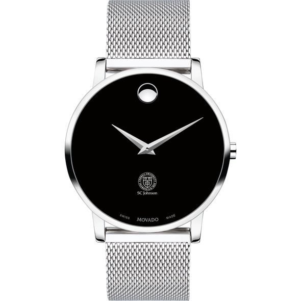 Cornell SC Johnson College of Business Men's Movado Museum with Mesh Bracelet - Image 2