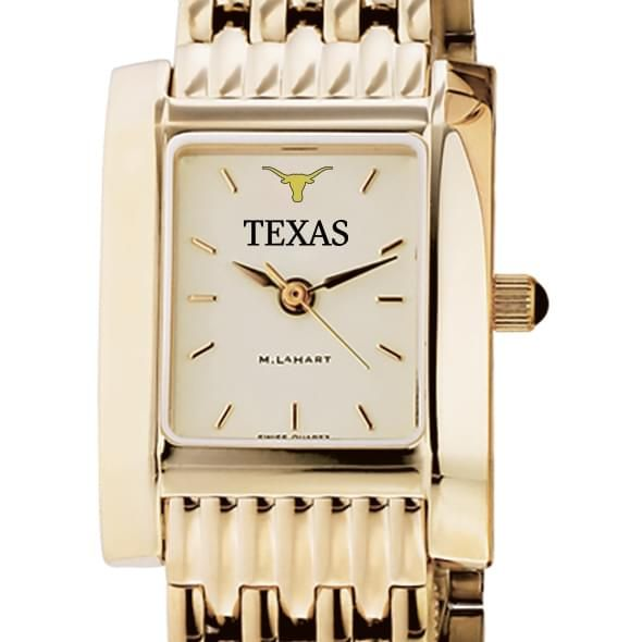 Texas Women's Gold Quad Watch with Bracelet