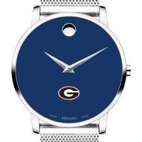 University of Georgia Men's Movado Museum with Blue Dial & Mesh Bracelet