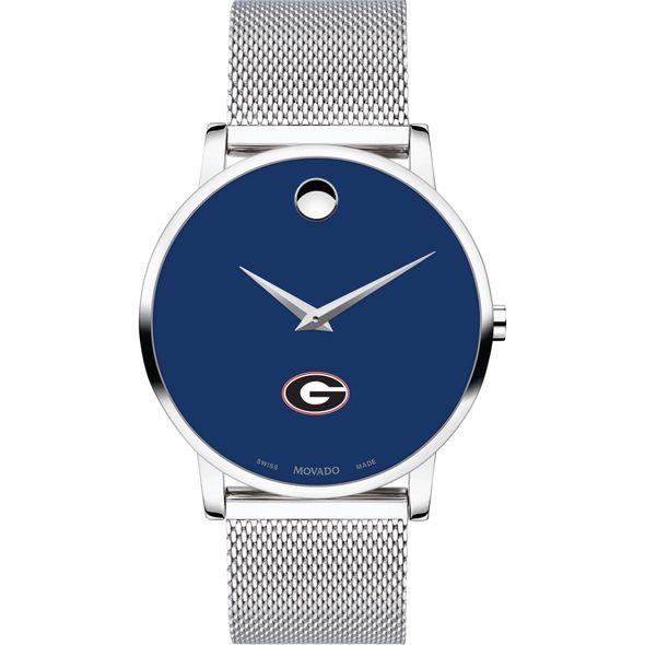 University of Georgia Men's Movado Museum with Blue Dial & Mesh Bracelet - Image 2