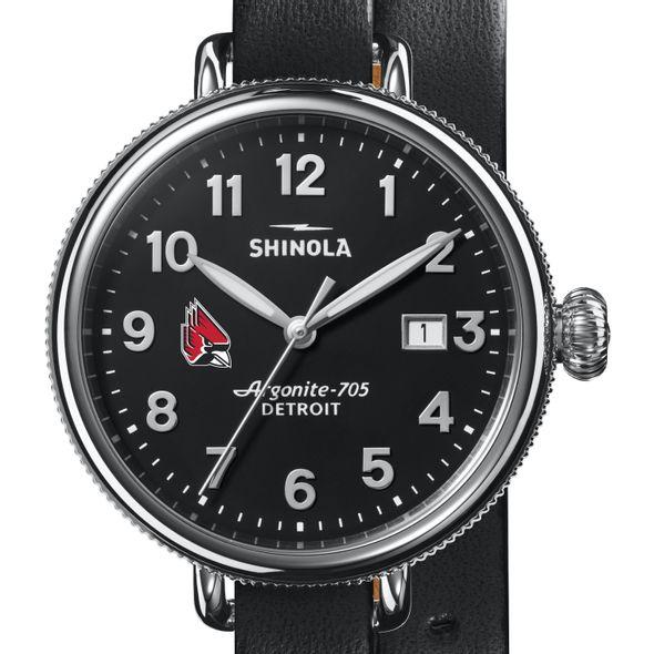 Ball State Shinola Watch, The Birdy 38mm Black Dial - Image 1