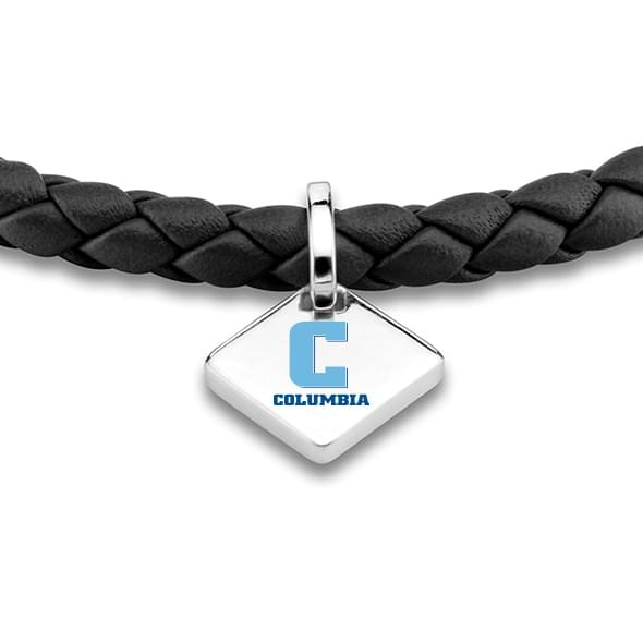 Columbia Leather Bracelet with Sterling Silver Tag - Black - Image 2