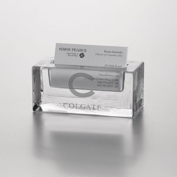 Colgate Glass Business Cardholder by Simon Pearce