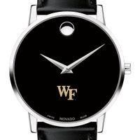 Wake Forest Men's Movado Museum with Leather Strap