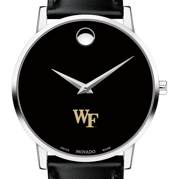 Wake Forest University Men's Movado Museum with Leather Strap
