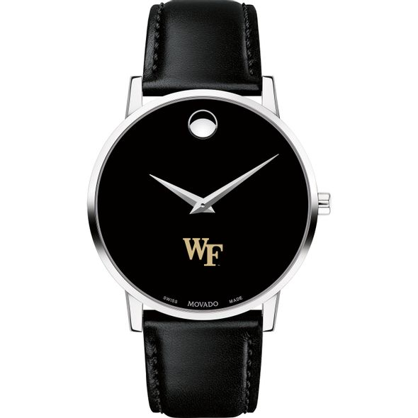 Wake Forest University Men's Movado Museum with Leather Strap - Image 2