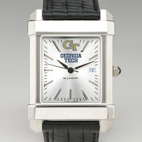 Georgia Tech Men's Collegiate Watch with Leather Strap
