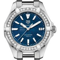 Emory Goizueta Women's TAG Heuer 35mm Steel Aquaracer with Blue Dial