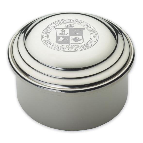 Virginia Tech Pewter Keepsake Box