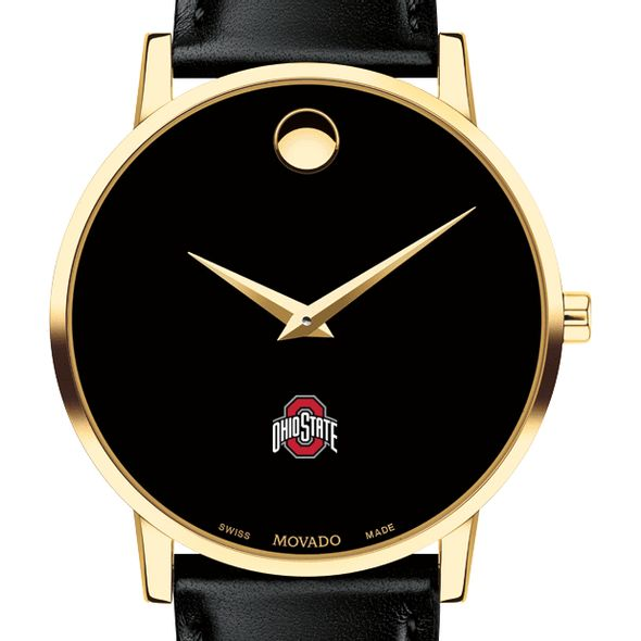 Ohio State Men's Movado Gold Museum Classic Leather - Image 1