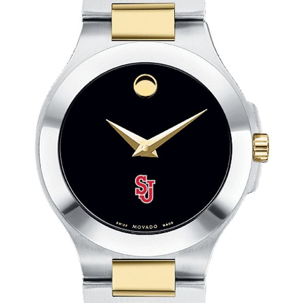St. John's Women's Movado Collection Two-Tone Watch with Black Dial - Image 1