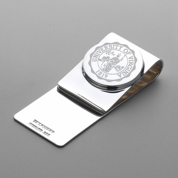 University of Virginia Sterling Silver Money Clip - Image 1