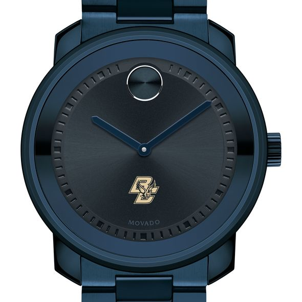 Boston College Men's Movado BOLD Blue Ion with Bracelet