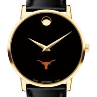 Texas Men's Movado Gold Museum Classic Leather