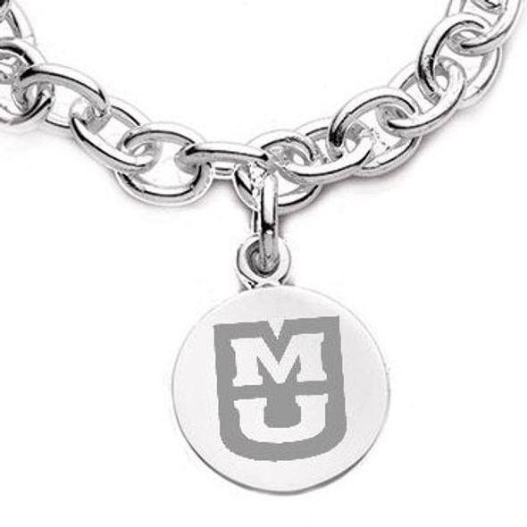 University of Missouri Sterling Silver Charm Bracelet - Image 2