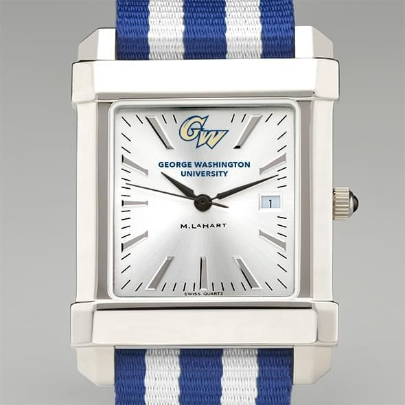 George Washington University Collegiate Watch with NATO Strap for Men - Image 1