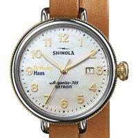Berkeley Haas Shinola Watch, The Birdy 38mm MOP Dial
