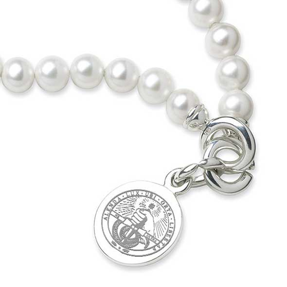 Davidson College Pearl Bracelet with Sterling Silver Charm - Image 2