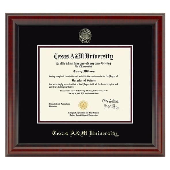 Official Texas A&M University Diploma Frame, the Fidelitas ...