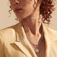 Auburn Amulet Necklace by John Hardy with Classic Chain and Three Connectors