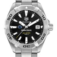 Penn State University Men's TAG Heuer Steel Aquaracer with Black Dial