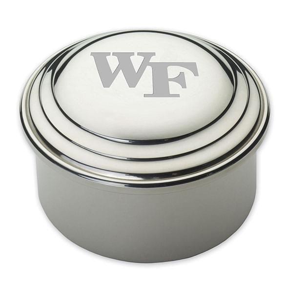 Wake Forest Pewter Keepsake Box - Image 1