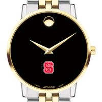NC State Men's Movado Two-Tone Museum Classic Bracelet