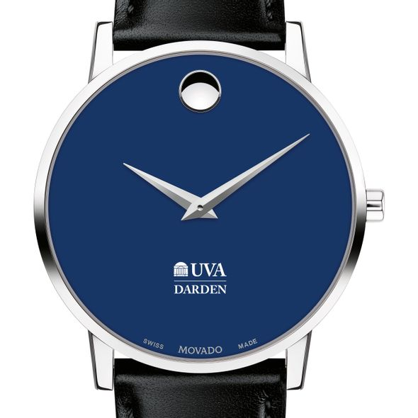 Darden School of Business Men's Movado Museum with Blue Dial & Leather Strap