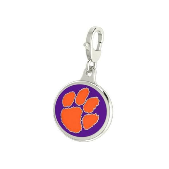 Clemson Enameled Charm with Lobster Claw Clasp