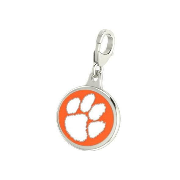 Clemson Enameled Charm with Lobster Claw Clasp - Image 2